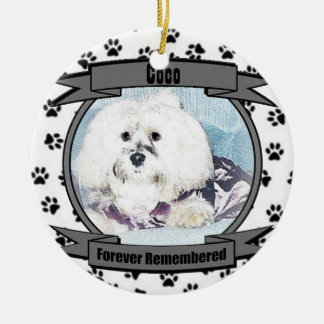 In Memory of Your Dog Forever Remembered Christmas Tree Ornament
