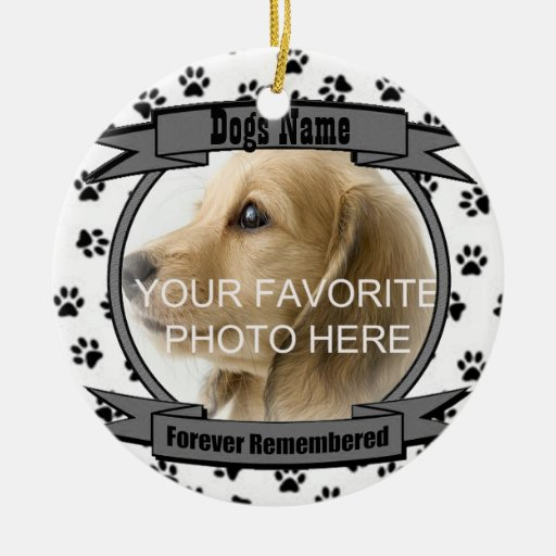 In Memory of Your Dog Forever Remembered Christmas Ornaments
