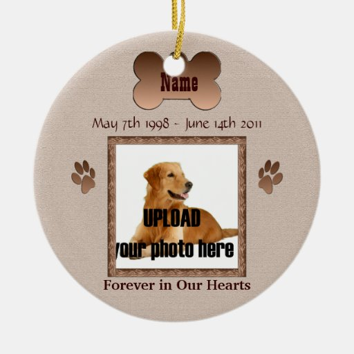 In Memory of Your Dog Christmas Tree Ornaments