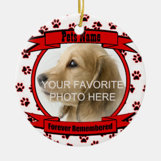 In Memory of Your Pet Forever Remembered Ornament