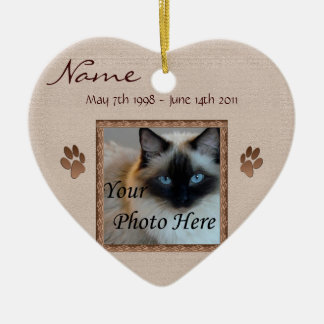 In Memory of Your Pet - Photo Memorial Ceramic Ornament