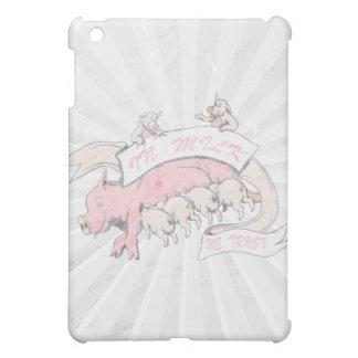 in milk we trust sow and baby pigs iPad mini case
