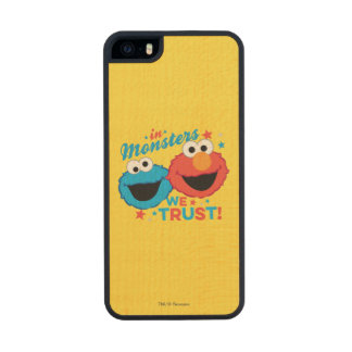 In Monsters We Trust! Carved® Maple iPhone 5 Case
