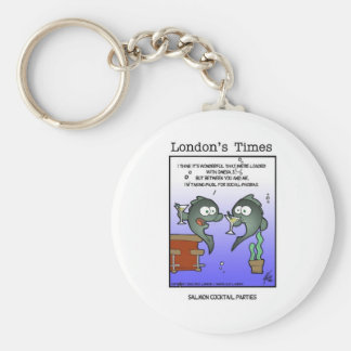 In Mood 4 Salmon Funny Gifts Tees & Collectibles Basic Round Button Keychain