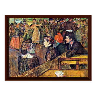 "In Moulin De La Galette "",  By Toulouse-Lautrec Postcard"