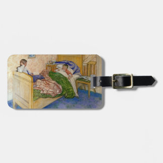 In Mum's Bed 1908 Luggage Tag