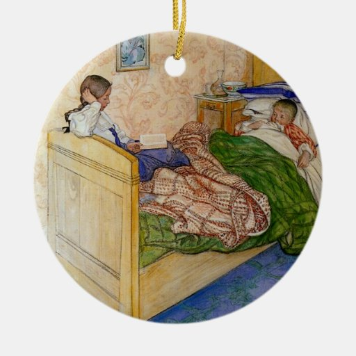 In Mum's Bed 1908 Double-Sided Ceramic Round Christmas Ornament