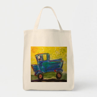 In My Big Blue Car by Roberto & Mary Tote Bag