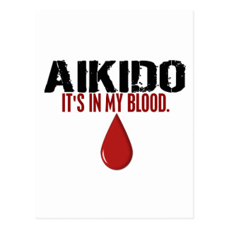 In My Blood AIKIDO Postcard