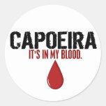 In My Blood CAPOEIRA Classic Round Sticker