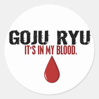 In My Blood GOJU RYU Classic Round Sticker