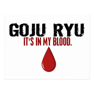In My Blood GOJU RYU Postcard