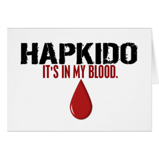 In My Blood HAPKIDO Card