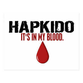 In My Blood HAPKIDO Postcard