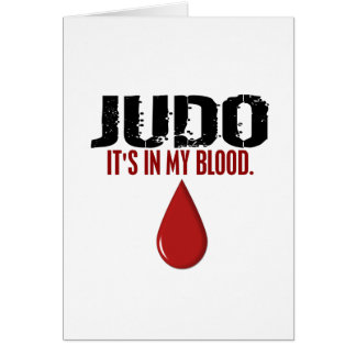 In My Blood JUDO Greeting Cards