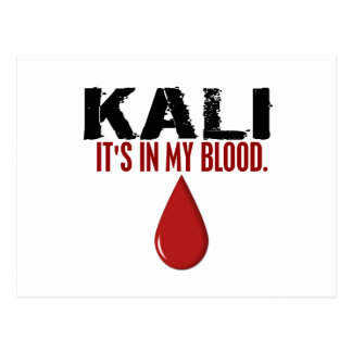 In My Blood KALI Postcard