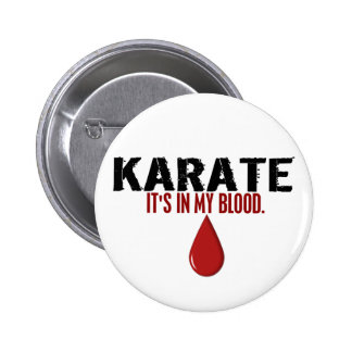 In My Blood KARATE Button