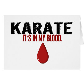 In My Blood KARATE Card