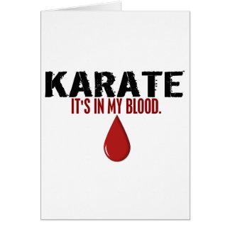 In My Blood KARATE Card