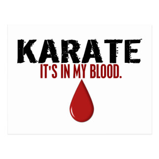 In My Blood KARATE Postcard