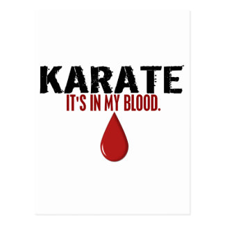 In My Blood KARATE Postcards