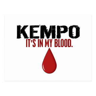 In My Blood KEMPO Postcard