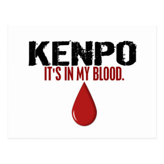 In My Blood KENPO Postcard