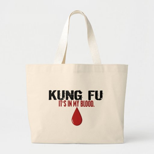 In My Blood KUNG FU Canvas Bag