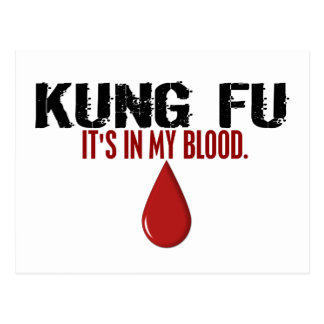 In My Blood KUNG FU Postcard