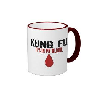 In My Blood KUNG FU Ringer Coffee Mug