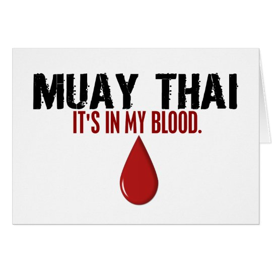 In My Blood MUAY THAI Card