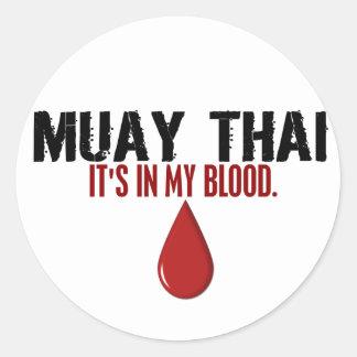 In My Blood MUAY THAI Classic Round Sticker