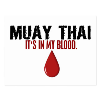 In My Blood MUAY THAI Postcard