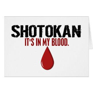 In My Blood SHOTOKAN Cards