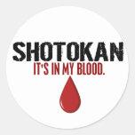 In My Blood SHOTOKAN Classic Round Sticker