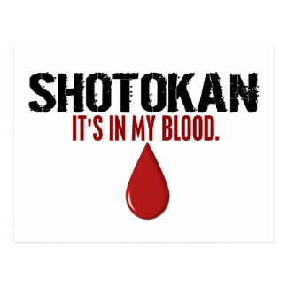 In My Blood SHOTOKAN Postcard