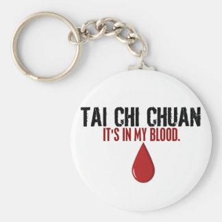 In My Blood TAI CHI CHUAN Basic Round Button Keychain