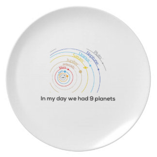 In My Day We had Nine Planets Melamine Plate