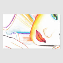 artsprojekt, sweet, imaginary, romantic, woman, dreaming, dreams, portrait, illustration, dream, inspiring, design, girl, fantasy, Sticker with custom graphic design