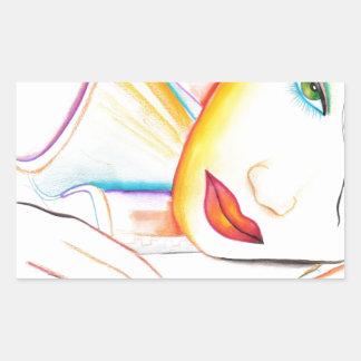 In my Dreams (A Dreamer Girl) Rectangular Sticker