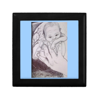 In My Father's Hand Blue Baby Gift Box