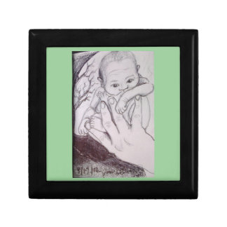 In My Father's Hand Mint Greeen Baby Gift Box