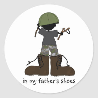 In My Father's Shoes... Classic Round Sticker