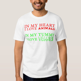 In my heart, I love animals. In my tummy, I love.. Shirt