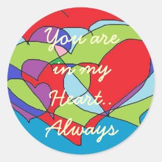In my Heart Stickers