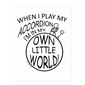 In My Own Little World Accordion Post Card