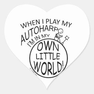 In My Own Little World Autoharp Heart Sticker