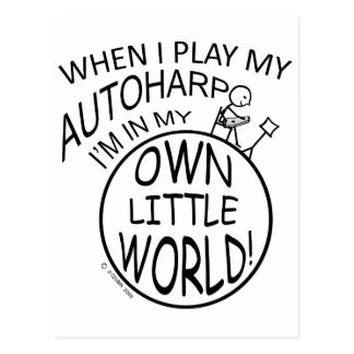 In My Own Little World Autoharp Postcard