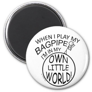 In My Own Little World Bagpipe Refrigerator Magnets