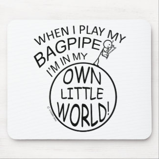 In My Own Little World Bagpipe Mouse Pads